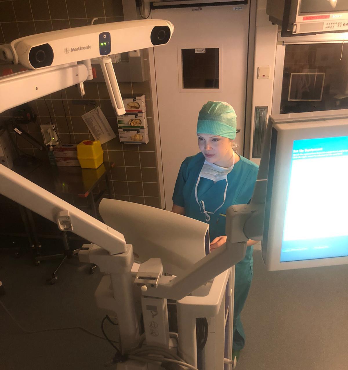 Preparing for the training in JDWNR Hospital