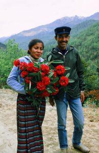 D.B. Chhetri mit Frau